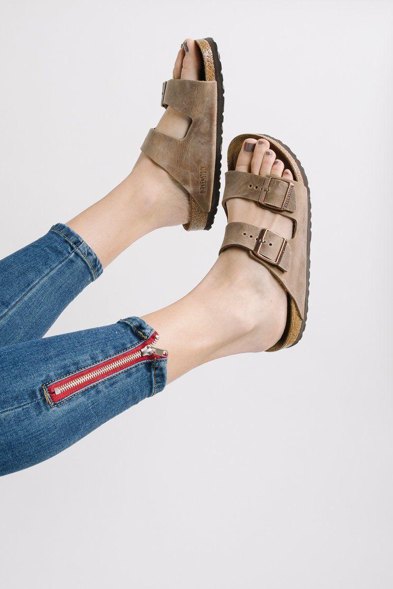 76e2355c6177 BIRKENSTOCK: Arizona Soft Footbed Tobacco Oiled Leather in Regular Fit