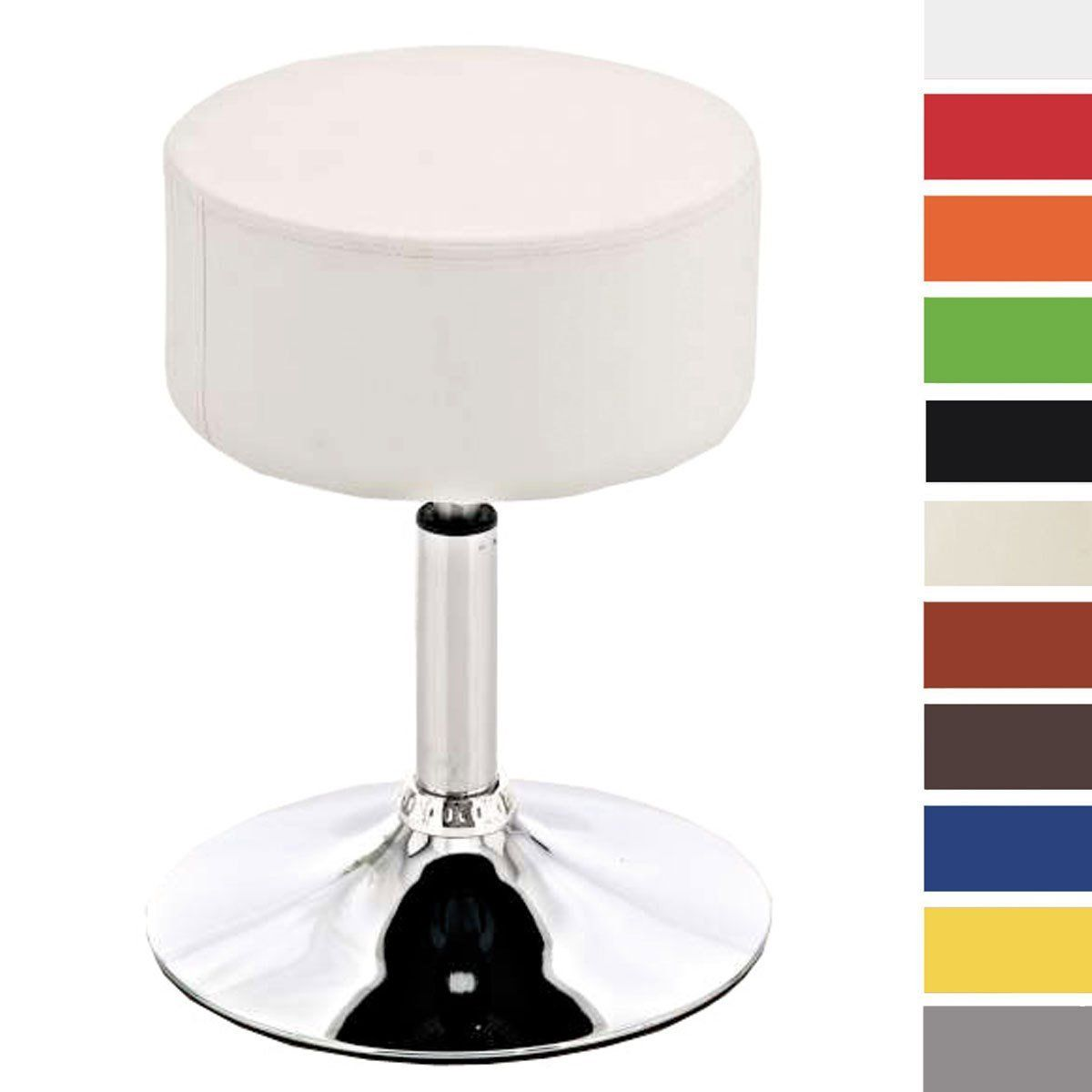 clp round kitchen stool anna swivel  height adjustable