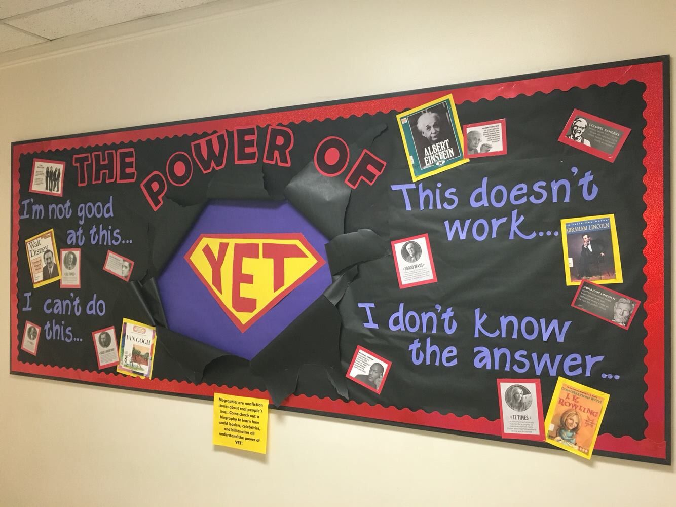 What An Amazing Bulletin Board Display The Power Of Yet