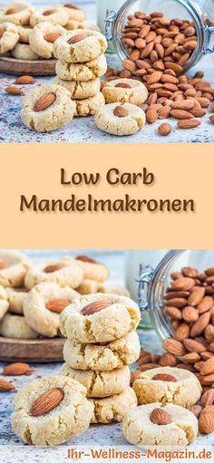 Low Carb Mandelmakronen - einfaches Plätzchen-Rezept für Weihnachtskekse