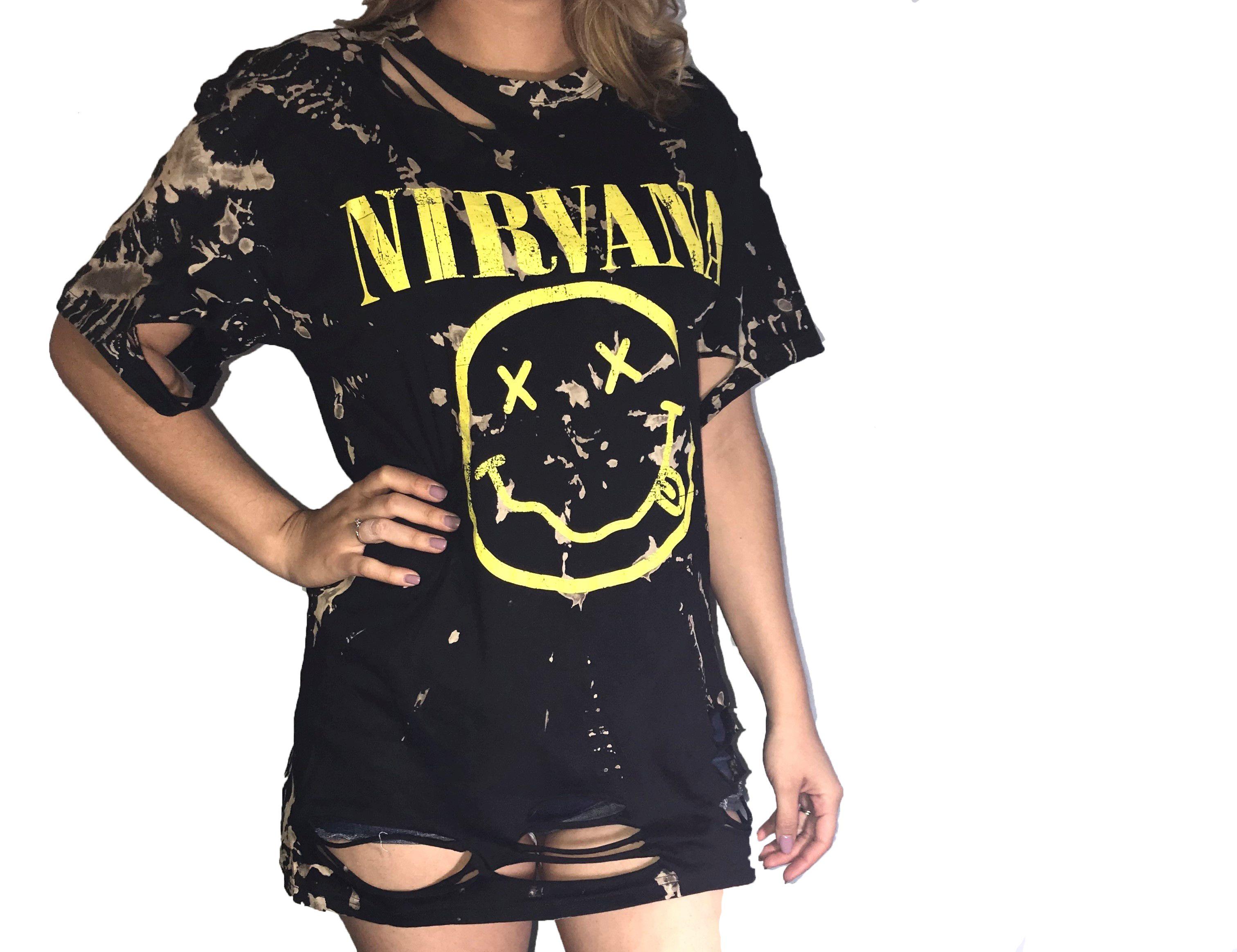 Tie Dye Nirvana Shirt Band Shirt Outfits Nirvana Shirt Outfit
