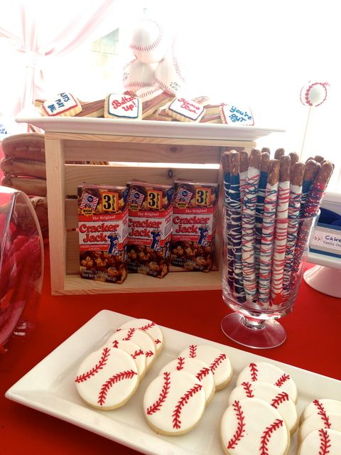 Baseball Baby Shower Party Ideas For Him Pinterest Baseball