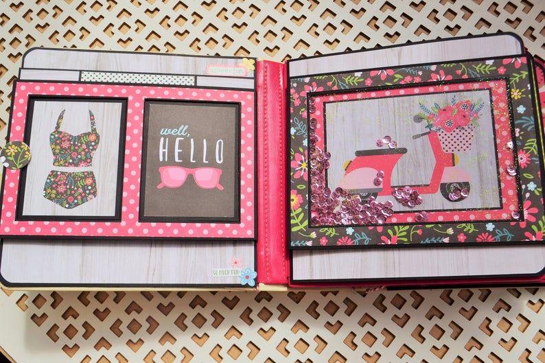 Summer Fun Pop Up Album Pdf Tutorial Echo Park Paper Mini Etsy Diy Pop Up Book Paper Craft Tutorials Scrapbook Albums Tutorial