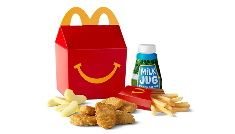 Stop By For A 6 Piece Chicken Mcnuggets Happy Meal Featuring Kids Fries Apple Slices A Drink A Mcdonald Happy Meal Mcdonalds Mcnuggets Chicken Mcnuggets