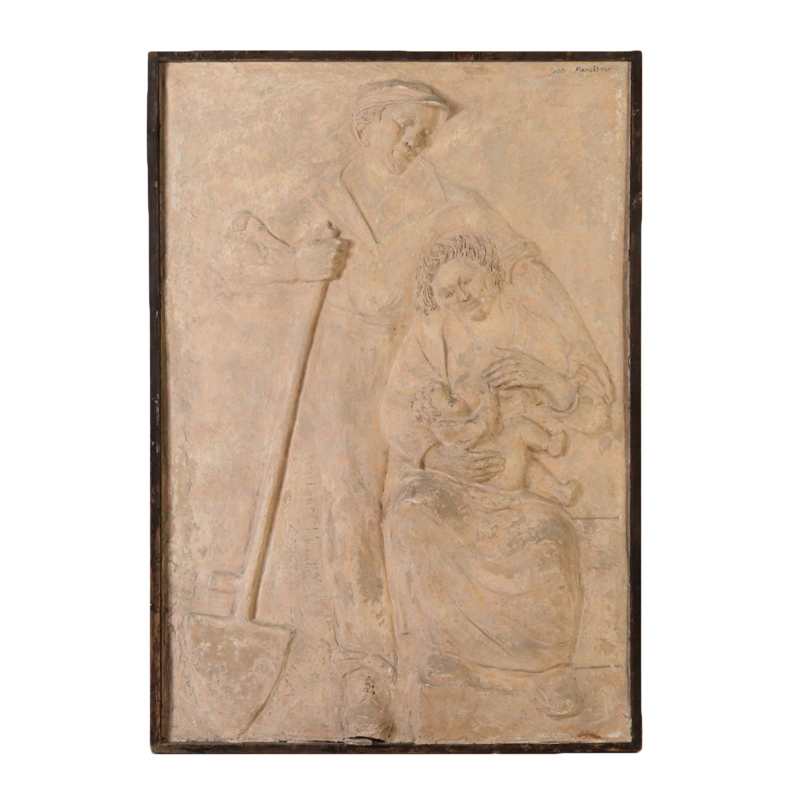 Kunst: The Family of the Farmer Gypsum Early 1900s #gesso