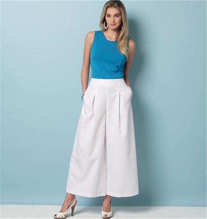 Patron de jupe-culotte et pantalon – Vogue 9091
