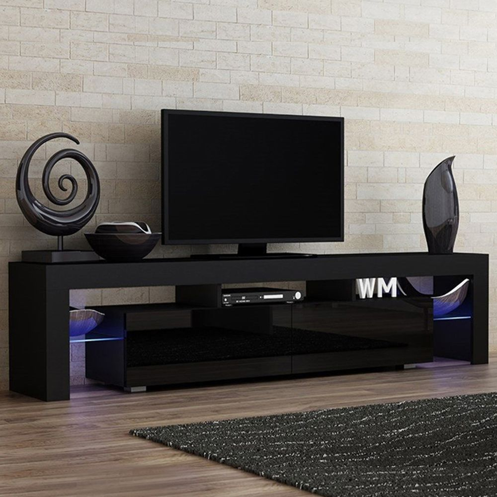 Milano 200 Black Tv Stand Milano Meble Furniture Tv Stands In 2021 Tv Stand Decor Living Room Tv Stand Cabinet Tv Stand And Entertainment Center
