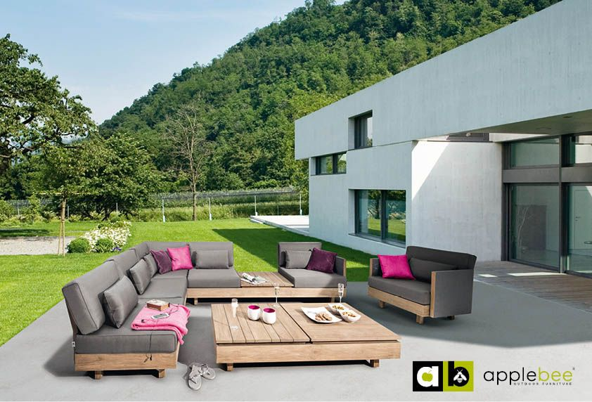 Tuinmeubelen collectie 2015   Fonteyn   Apple Bee #tuinmeubelen #tuinset #lounge #loungebank #