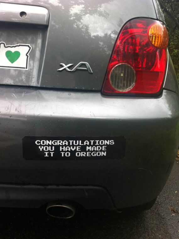 Congratulations you made it to oregon oregon trail vinyl bumper sticker on etsy 5 00