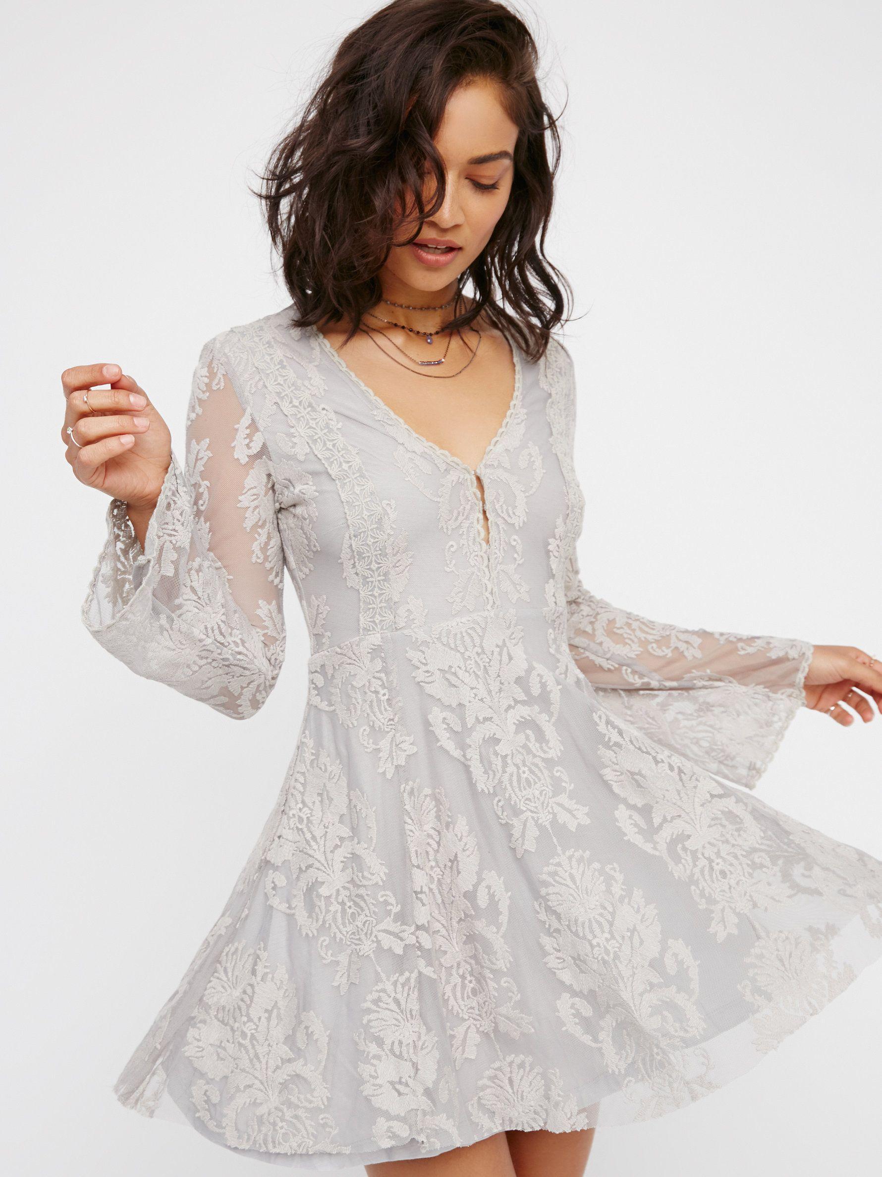 Reign Over Me Lace Dress | White boho dress, Free people ...