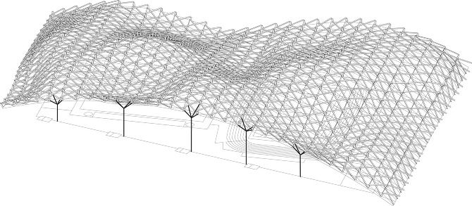 Nice Sports Hall Roof Structure U0027Fluid Steelu0027   Power Architecture   Arch2O.com