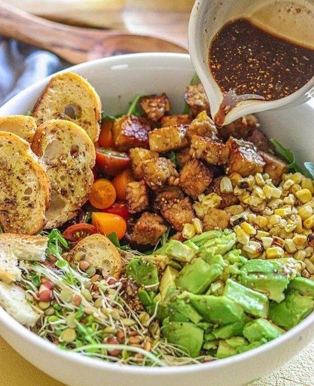 "Vegan Recipes on Instagram: ""🥑🍅 Get Our new 50 Vegan Recipes eBook 👉 @vegan_veganlife 🎯 Link in BIO . Summer Lime Tempeh Salad  . by @livinlaveganlife . 🥗 Lime-infused…"""