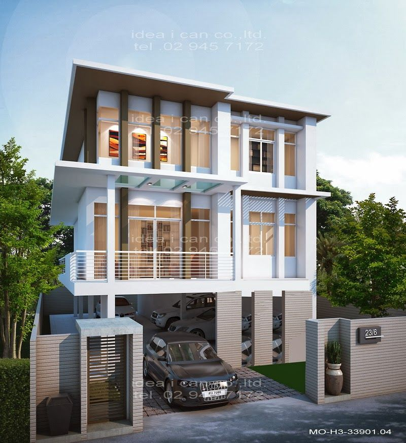 Awesome Three Story House Plans For Interior Designing Home Ideas