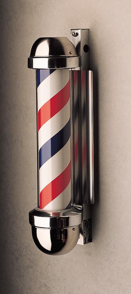 William Marvy 333 Wall Mount Non Revolving Barber Pole Barber Pole Barber Shop Pole Barber