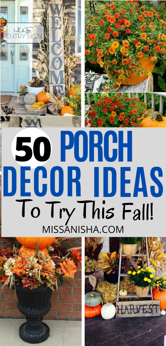 50 Best Diy Fall Porch Decorating Ideas That You Ll Love Fall Decor Ideas Porch Decorating Fall Outdoor Decor Fall Decorations Porch