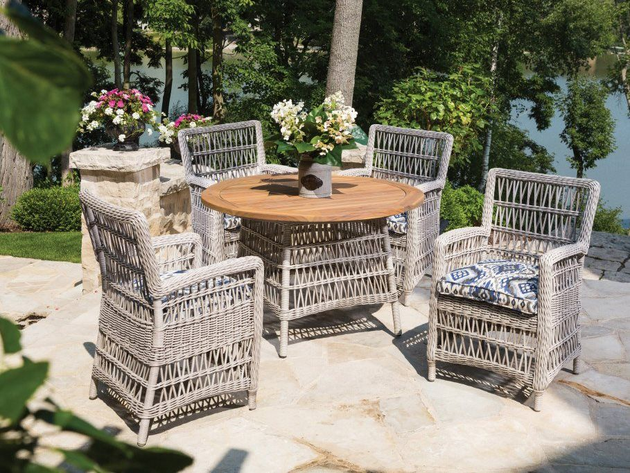 lloyd flanders mackinac wicker dining arm chair outside dining rh pinterest com