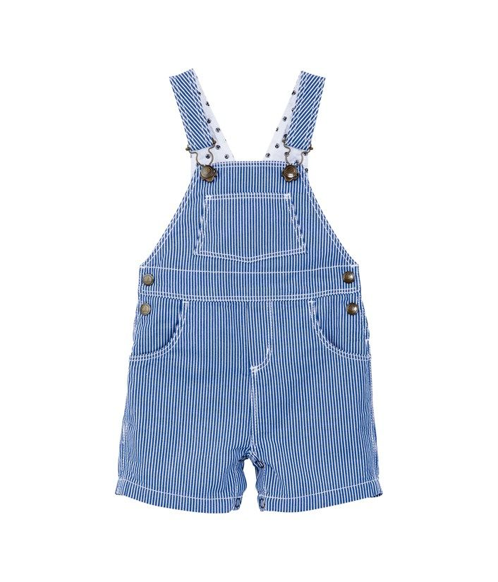 d0411821c1ee Petit Bateau Baby Boy Short Cotton Dungarees With Stripes £39.50 ...
