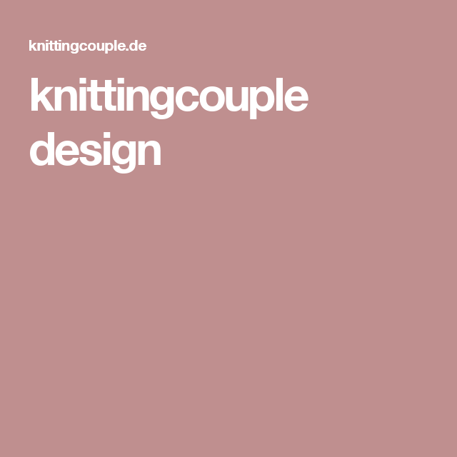 knittingcouple design