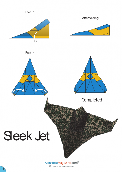 Paper Airplane Instructions Sleek Jet
