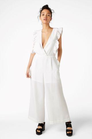 3cfe137e15b4 Ruffled jumpsuit - White - Monki