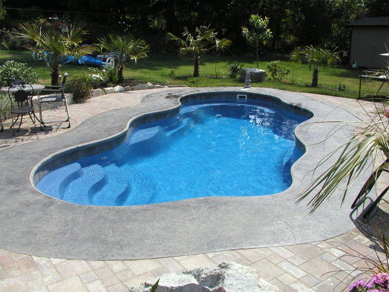 Pools Overview Inground Fiberglass Pools Pools Backyard Inground Pool Patio Designs