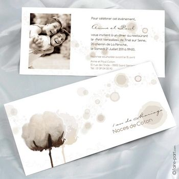 invitation anniversaire de mariage 1 an