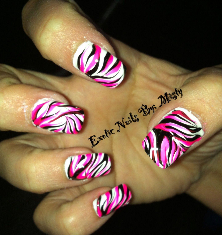 Wild nail art   Exotic Nails Hand painted nail art   Pinterest ...