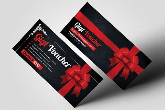Multi Use Business Gift Voucher Photoshop Textures Photoshop - business voucher template