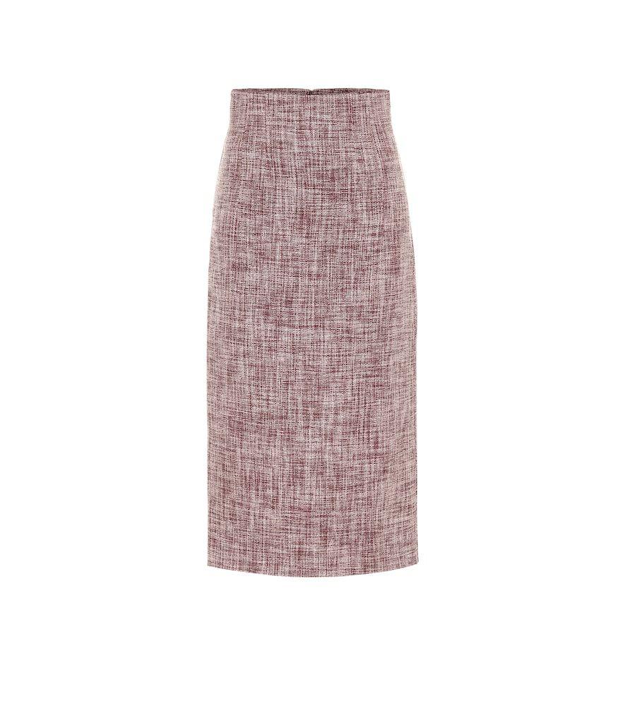 Woolblend midi skirt Victoria beckham, Leinen, Thom browne