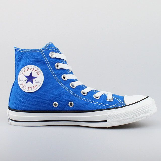 Converse All Star Chuck Taylor Hi Top Electric Blue Canvas ...