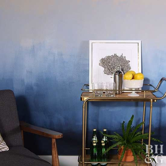Transform Your Walls With A DIY Ombre Paint Treatment Paint - Ombre wall painting technique