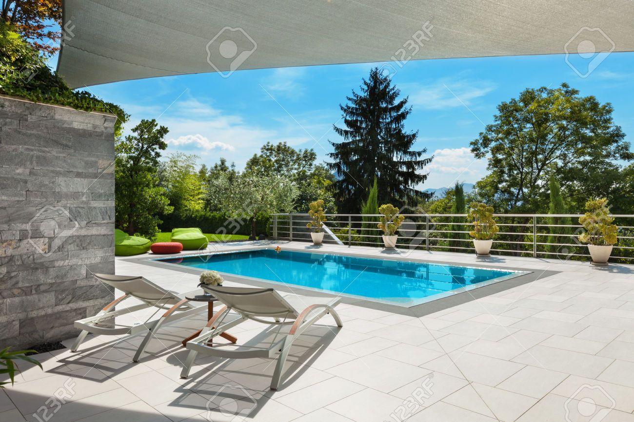 zwembad wit huis - Google-Suche
