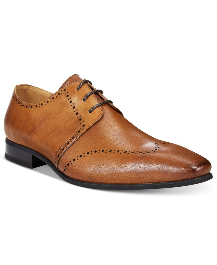 Bar Iii Men's Kane Brogued Wing Tip Oxfords, Only at Macy's