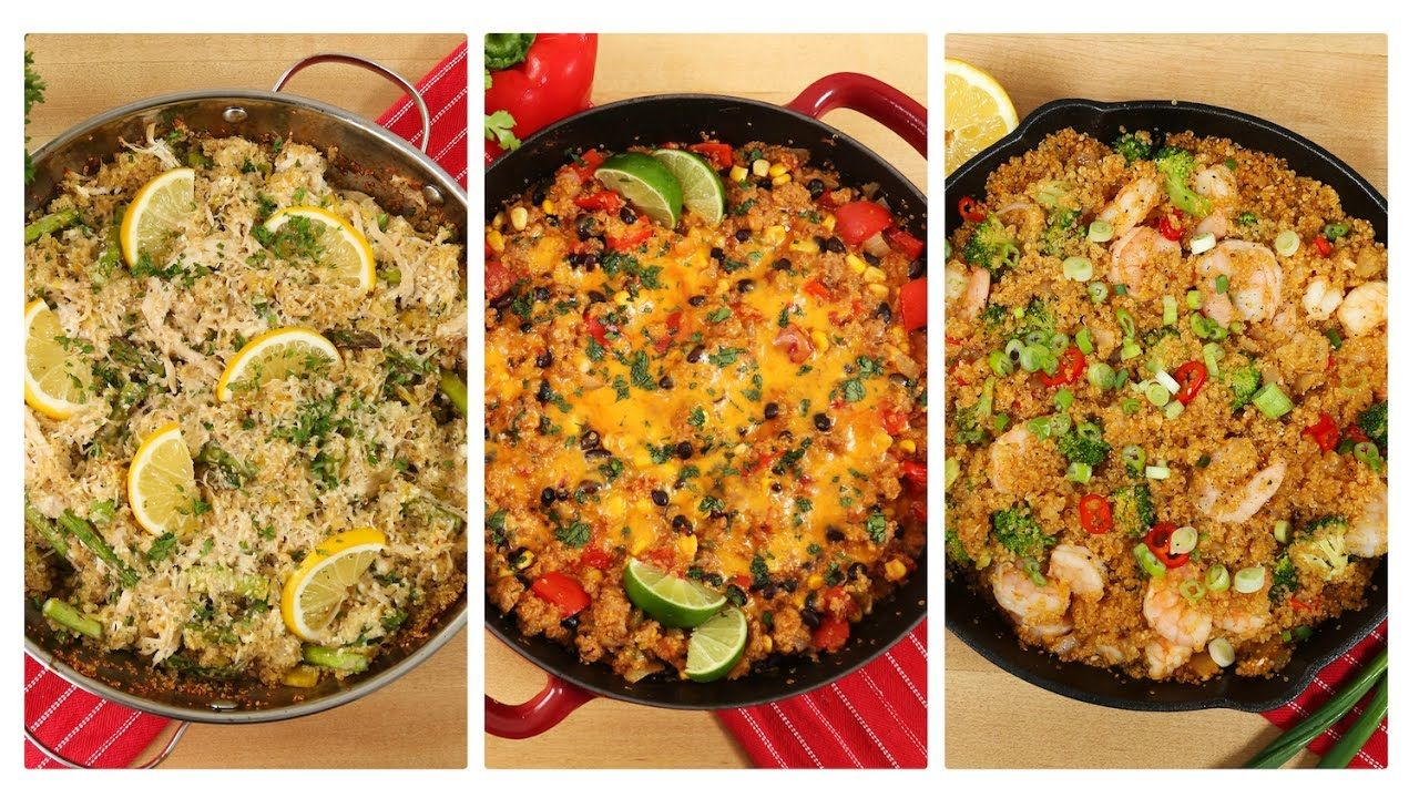 3 healthy one skillet quinoa recipes dinner made easy youtube 3 healthy one skillet quinoa recipes dinner made easy youtube forumfinder