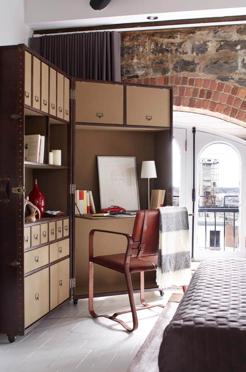 Masculine style loft with fresh design inspiration in ...