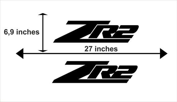 Chevrolet Colorado Zr2 Logo 2x Body Decals Graphics Vinyl