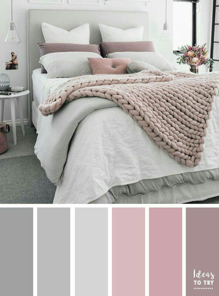 Soft Color Scheme For A Relaxing Bedroom Pink Gray Ideas Grey