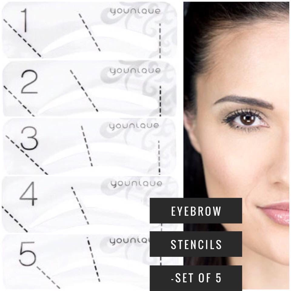 d19e13fb5eb Eyebrow Stencils (5pc set) Trace your way to perfect eyebrows Create  perfectly shaped brows easily with this set of five eyebrow stencils.