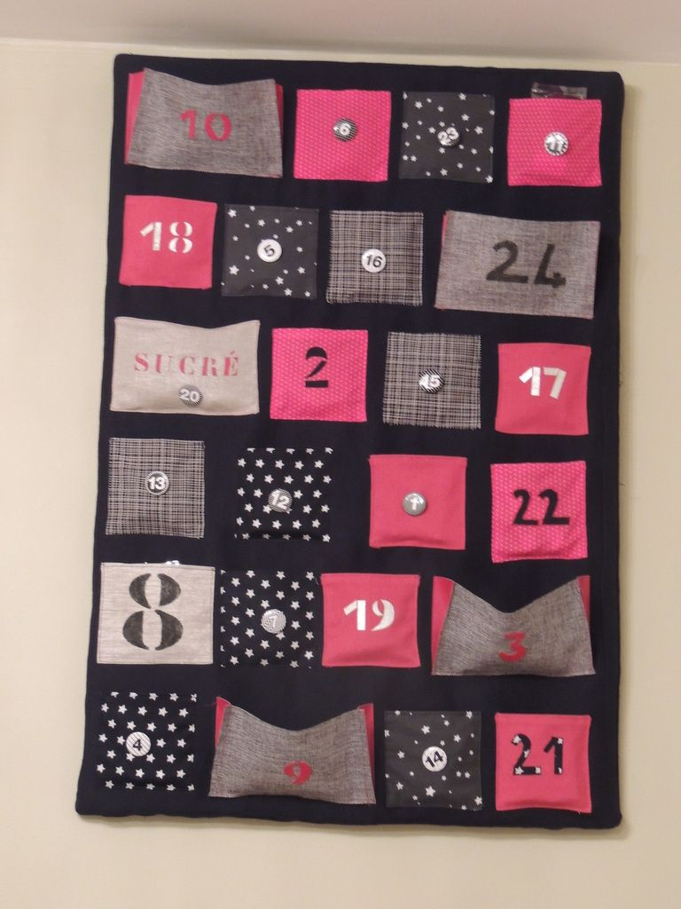 calendrier de l 39 avent couture pinterest calendrier. Black Bedroom Furniture Sets. Home Design Ideas