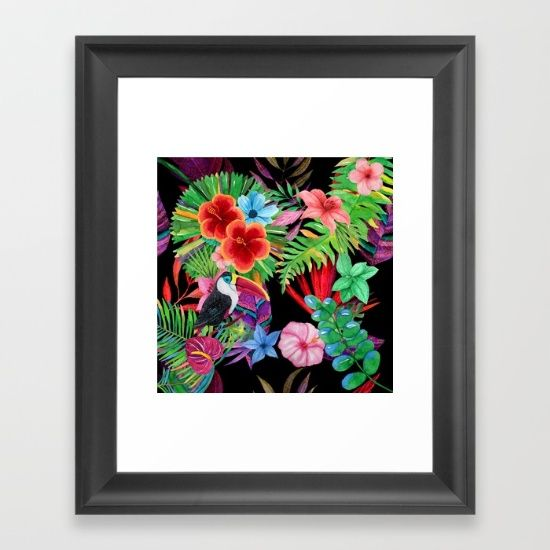 hawaiian beauty Framed Art Print