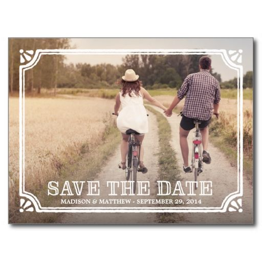 Rustic Frame   Save the Date Postcard