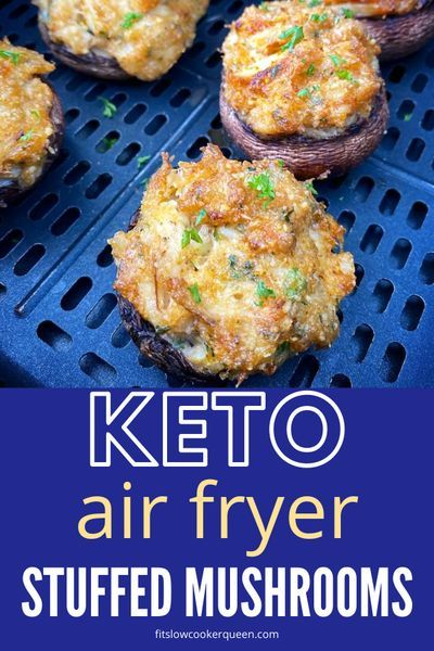 {VIDEO} Air Fryer Crab Stuffed Mushrooms (Low-Carb
