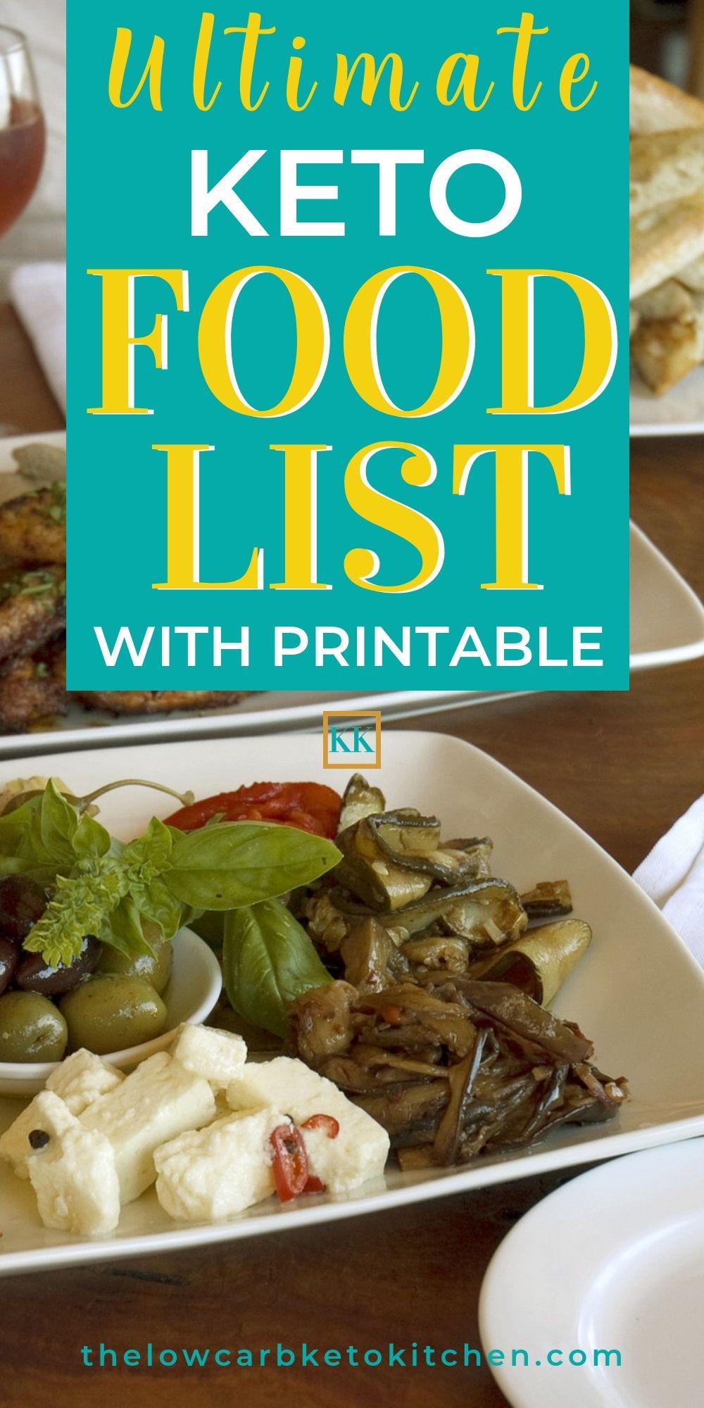 The Ultimate Keto Food List with Printable Keto food
