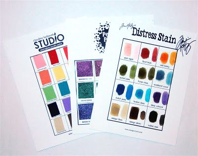 Color samples of Ranger products
