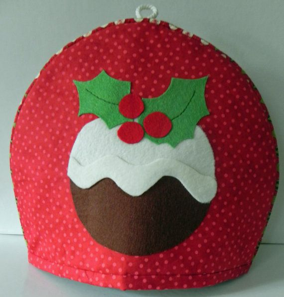 Novelty Christmas pudding design tea cosy by EverSewUnique on Etsy