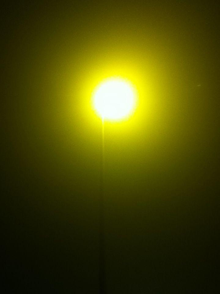 Licht ziet er zo raar uit als het mistig is.
