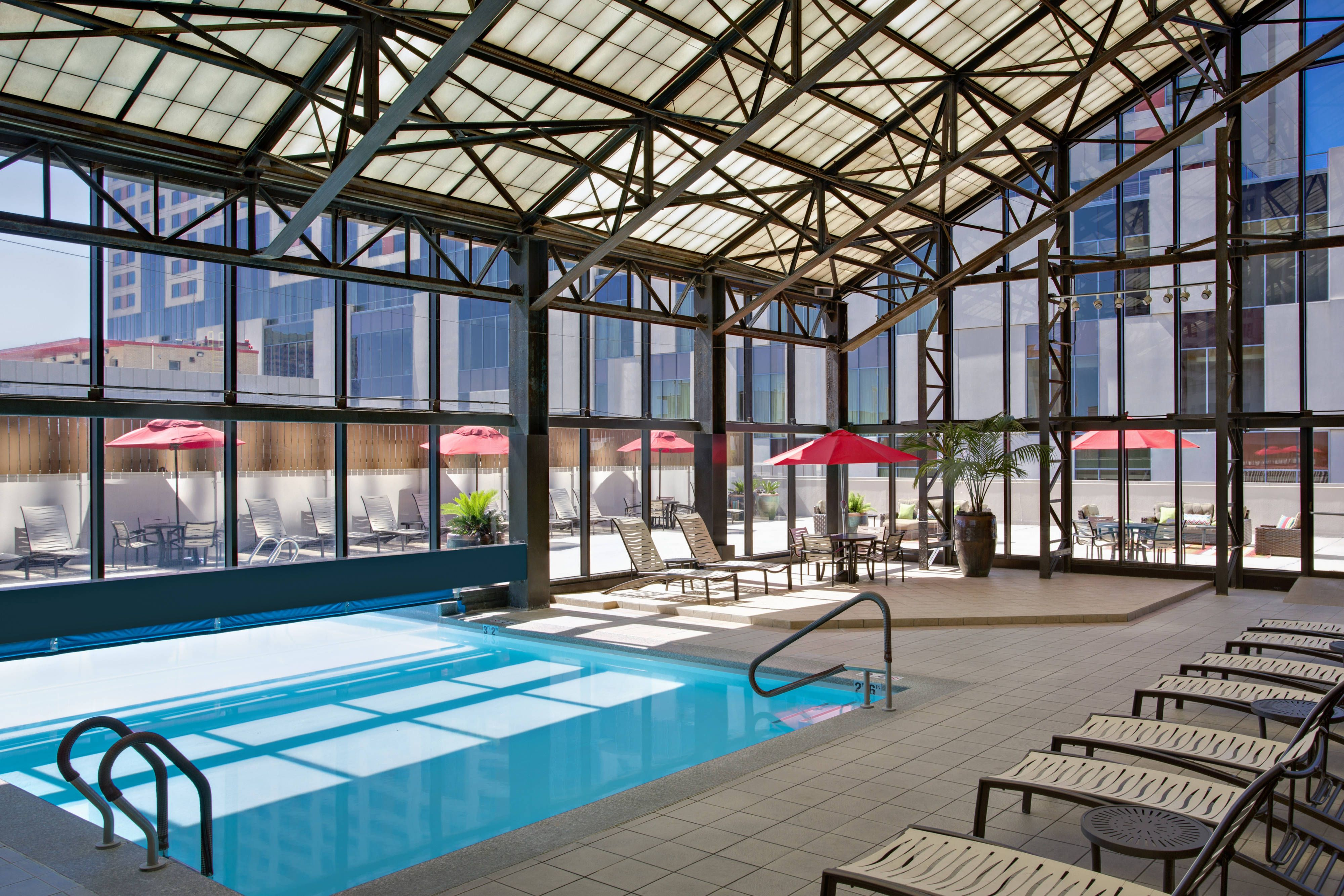 San Antonio Marriott Riverwalk Indoor Outdoor Pool Comfort