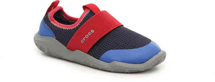 23ad25f0d3c3 Crocs Boys Swiftwater Easy-On Toddler   Youth Water Shoe -Navy ...