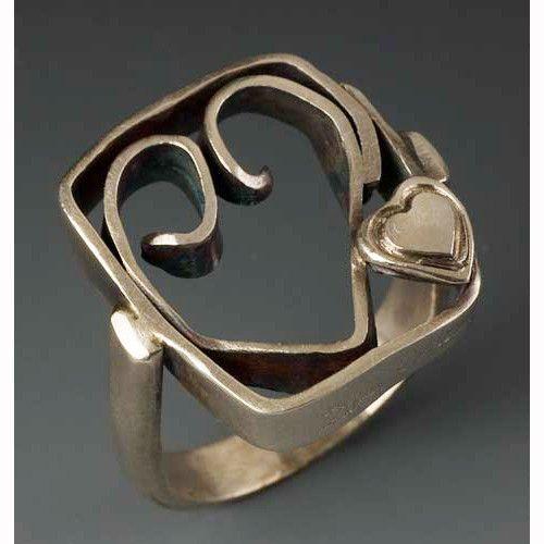 Sherri Cohen Design Heart In A Box Ring Artistic Artisan Designer