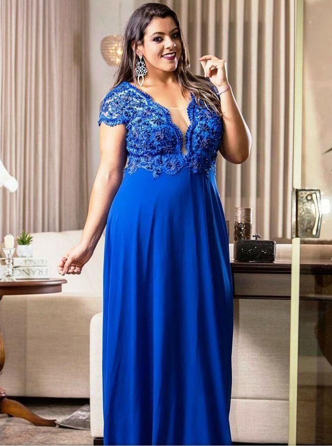 Royal Blue Plus Size Prom Dresses,Long Plus Size Prom Dress ...